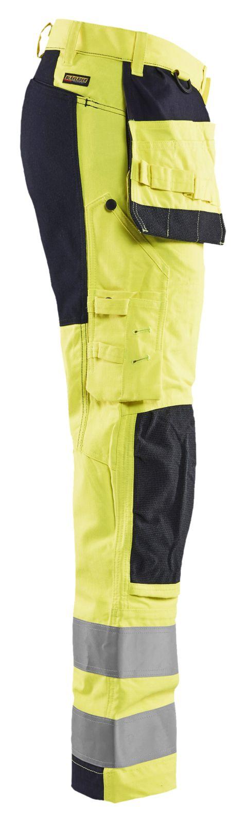 Blaklader Werkbroeken 15871512 met Stretch Multinorm geel-marineblauw(3389)
