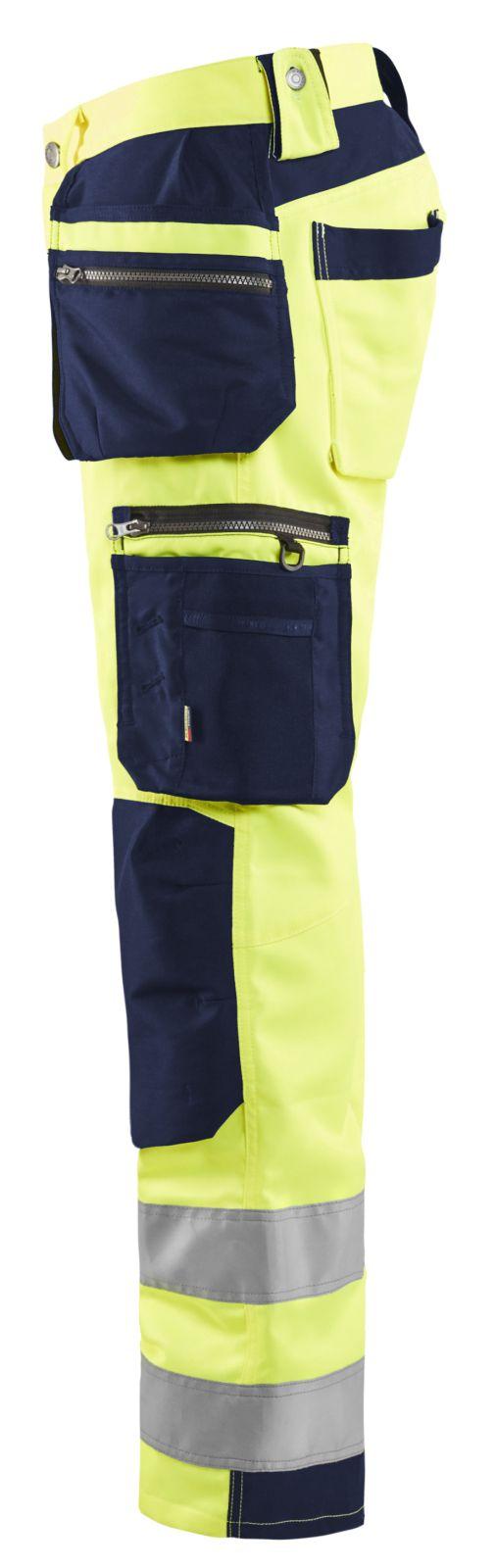 Blaklader Broeken 15921818 fluo geel-marineblauw(3389)