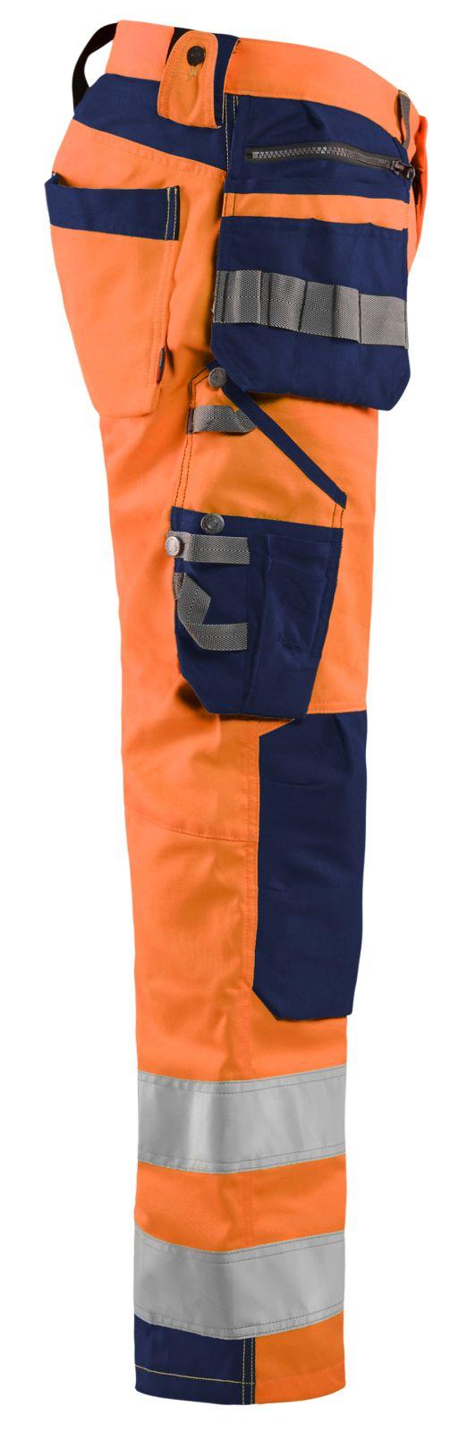 Blaklader Broeken 15921818 fluo oranje-marineblauw(5389)
