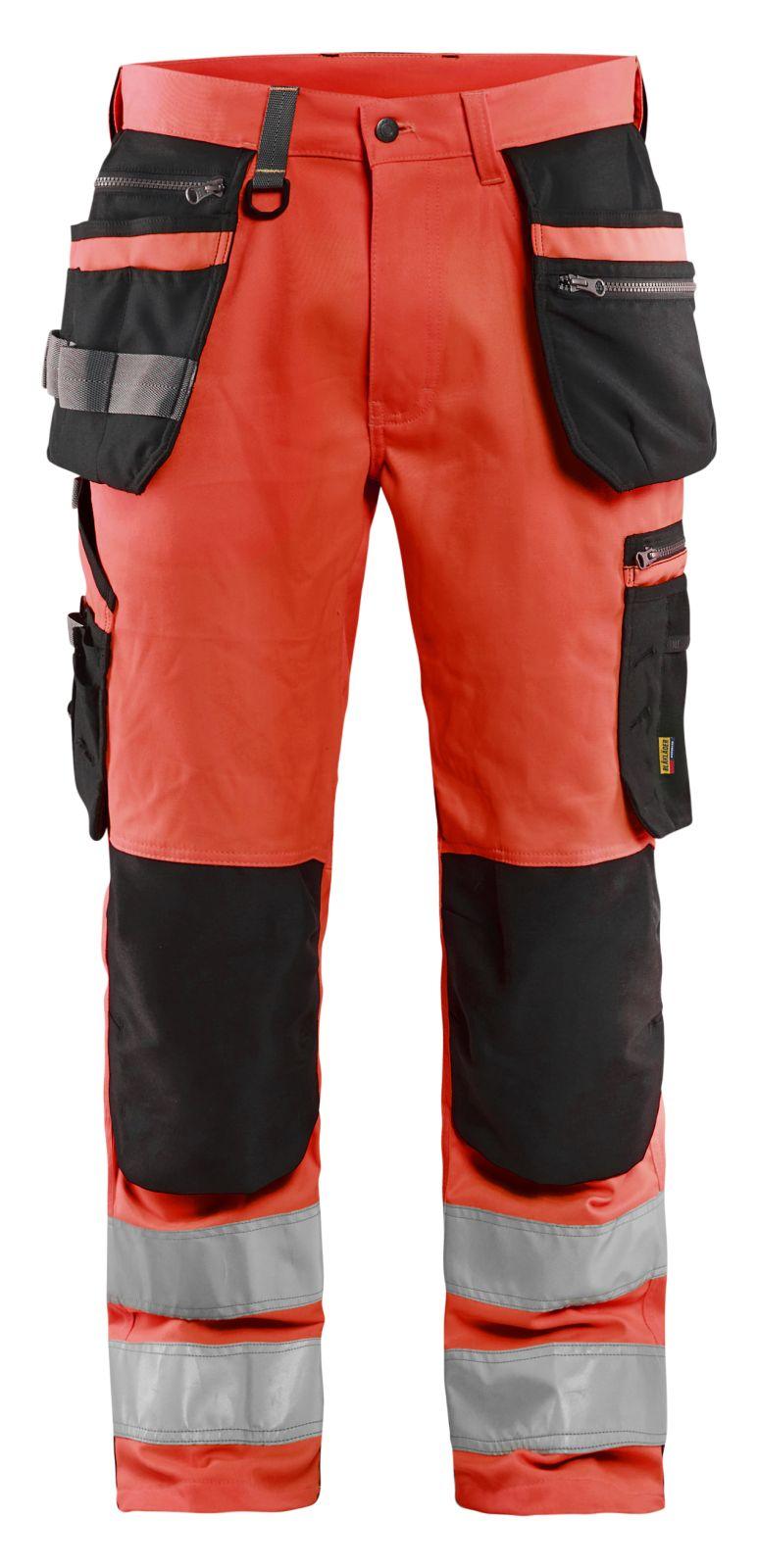 Blaklader Broeken 15921818 fluo rood-zwart(5599)