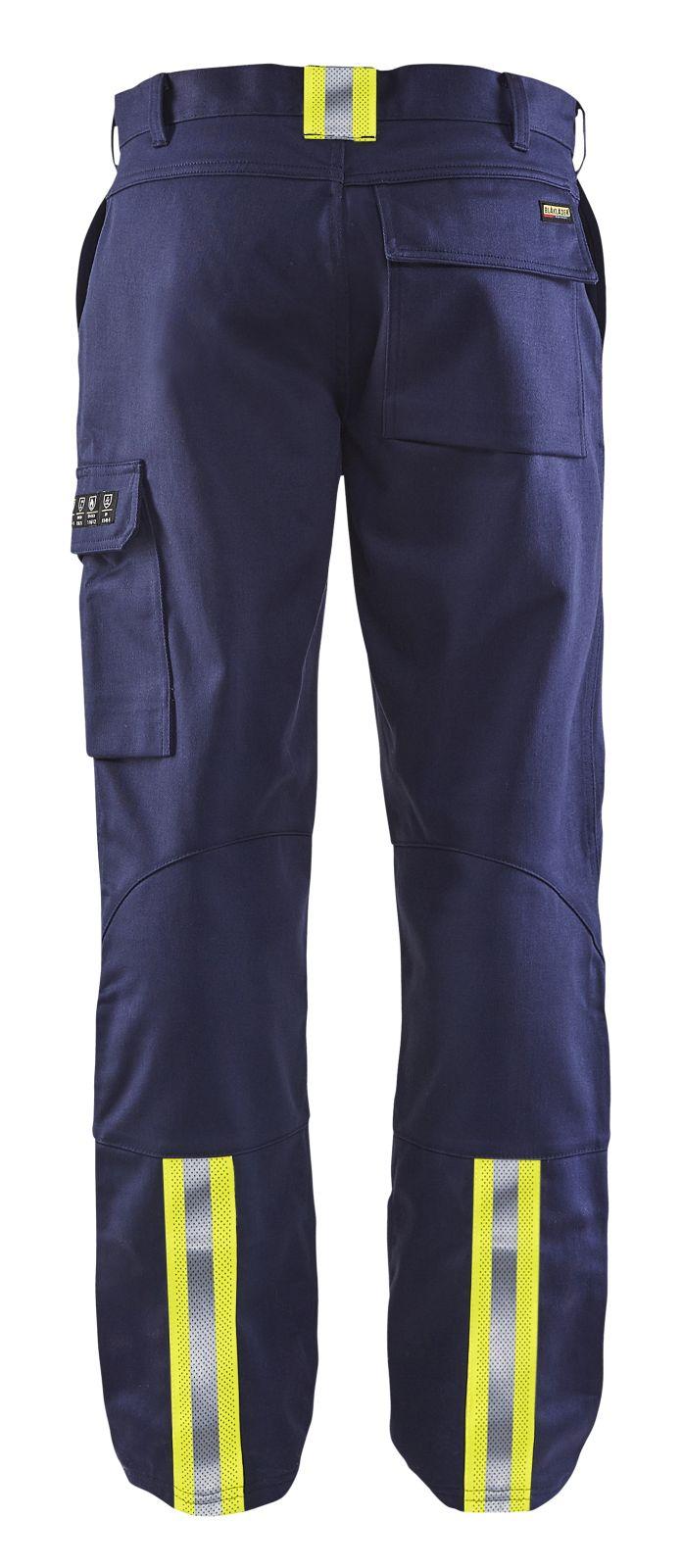 Blaklader Lasbroeken 17011501 Vlamvertragend marineblauw-geel(8933)