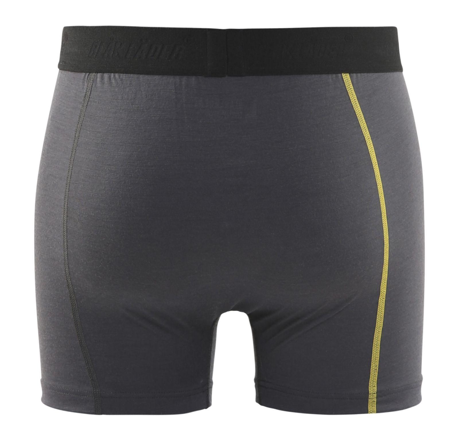Blaklader Boxershorts 18471734 donkergrijs-geel(9835)