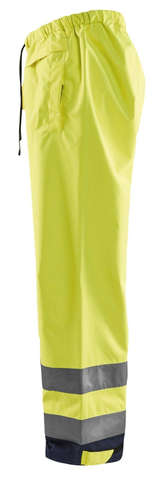 Blaklader Regenbroeken 18631977 High Vis Overbroek geel-marineblauw(3389)