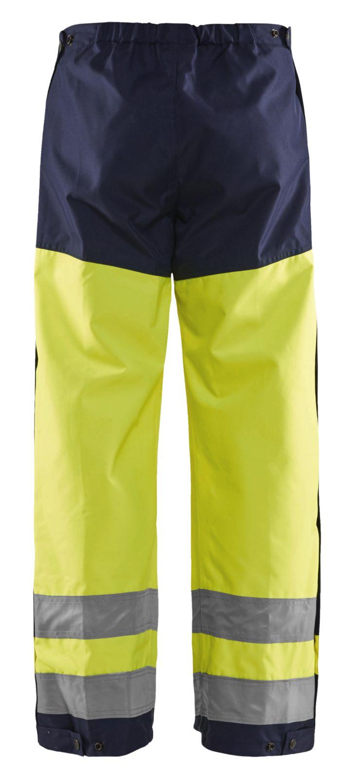 Blaklader Regenbroeken 18651977 High Vis geel-marineblauw(3389)
