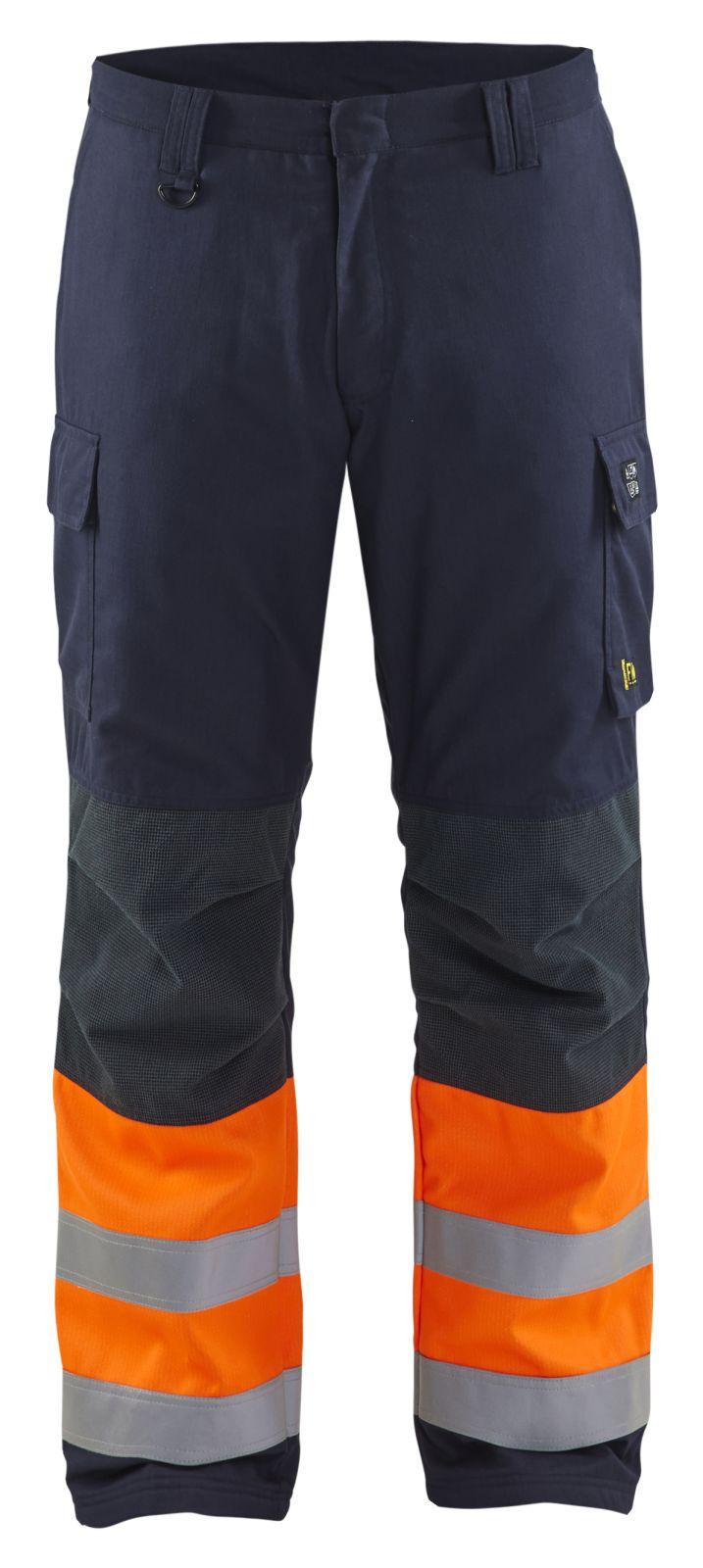 Blaklader Broeken 18691513 Multinorm marineblauw-oranje(8953)
