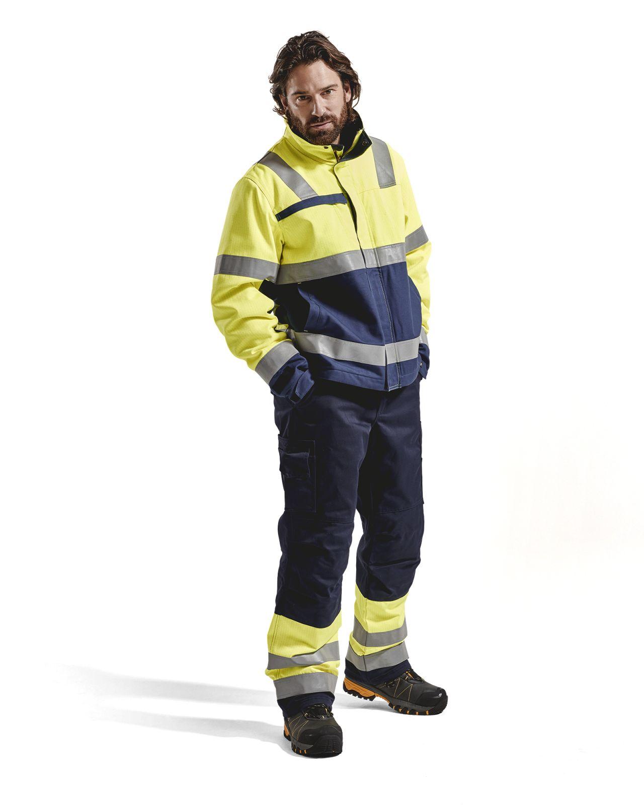 Blaklader Winterwerkbroeken 18691514 Multinorm marineblauw-geel(8933)