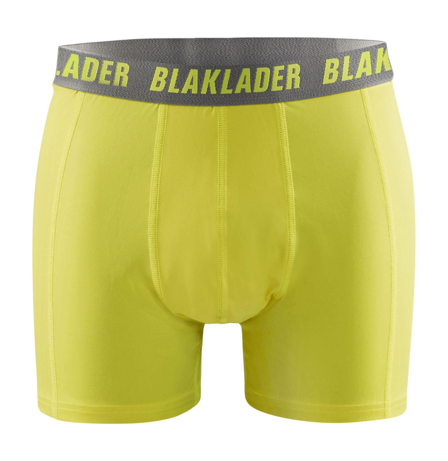 Blaklader Boxershorts 18861079 2-pack fluo geel-grijs(3394)