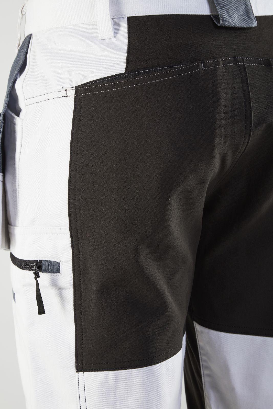 Blaklader Broeken 19101000 wit-zwart(1099)