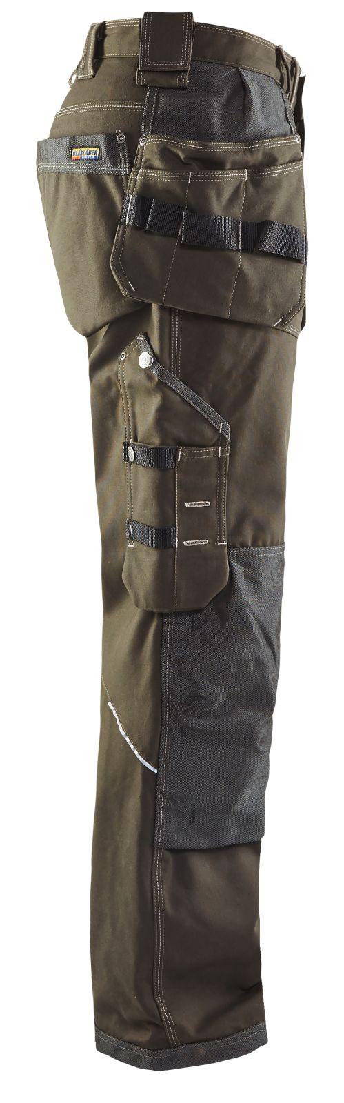 Blaklader Werkbroeken 19601145 groen-zwart(4599)