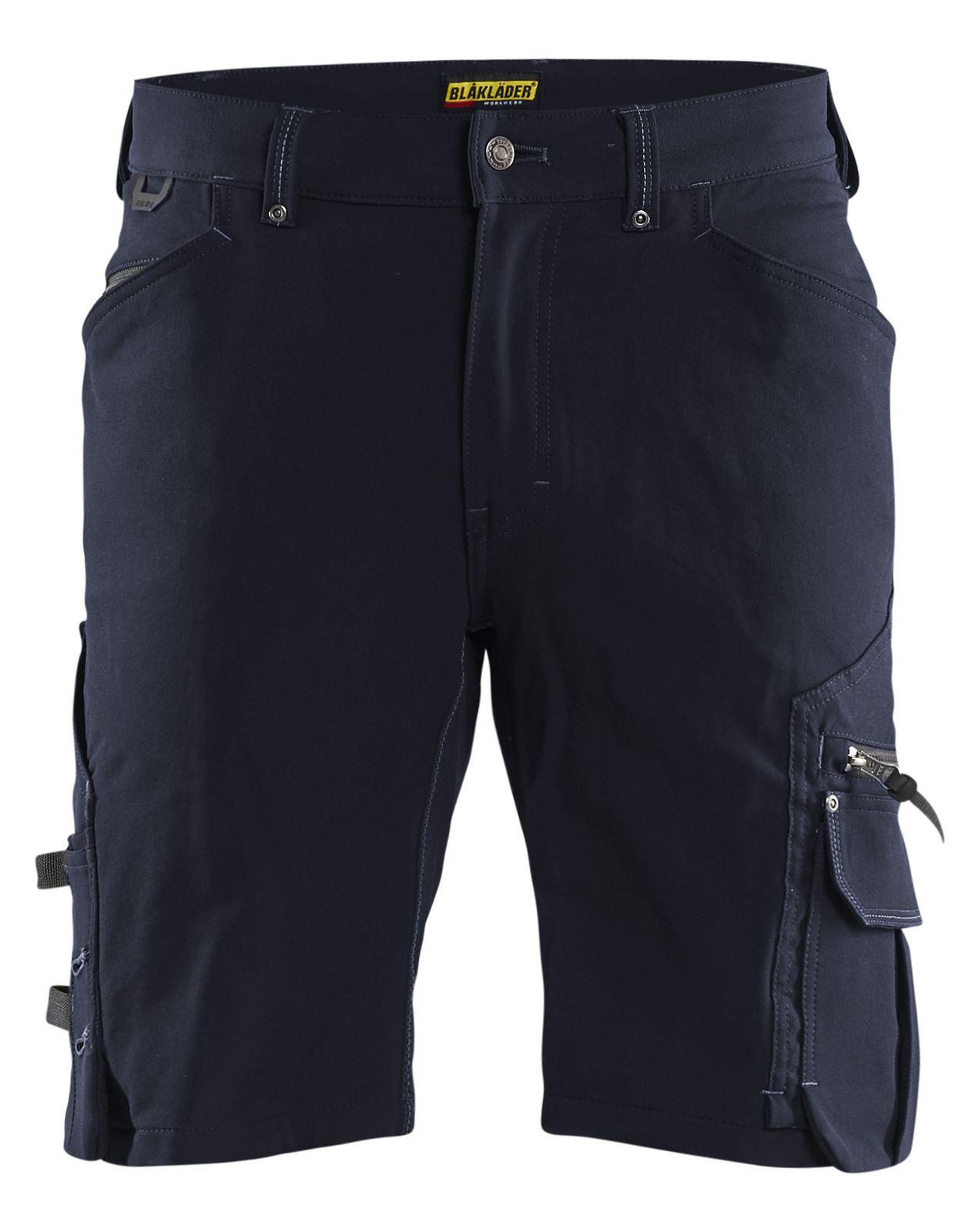 Blaklader Korte werkbroeken 19871644 Stretch donker marineblauw-zwart(8699)