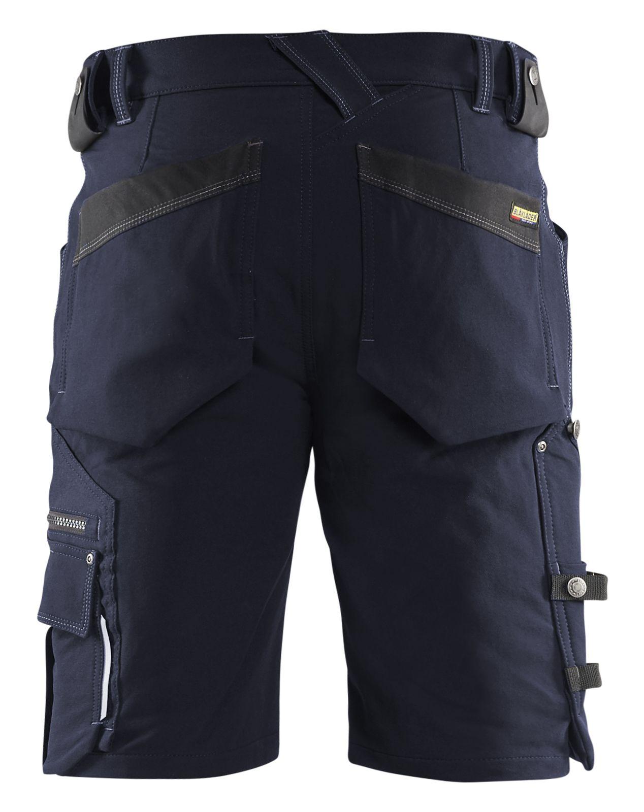 Blaklader Broeken 19871644 Stretch donker marineblauw-zwart(8699)