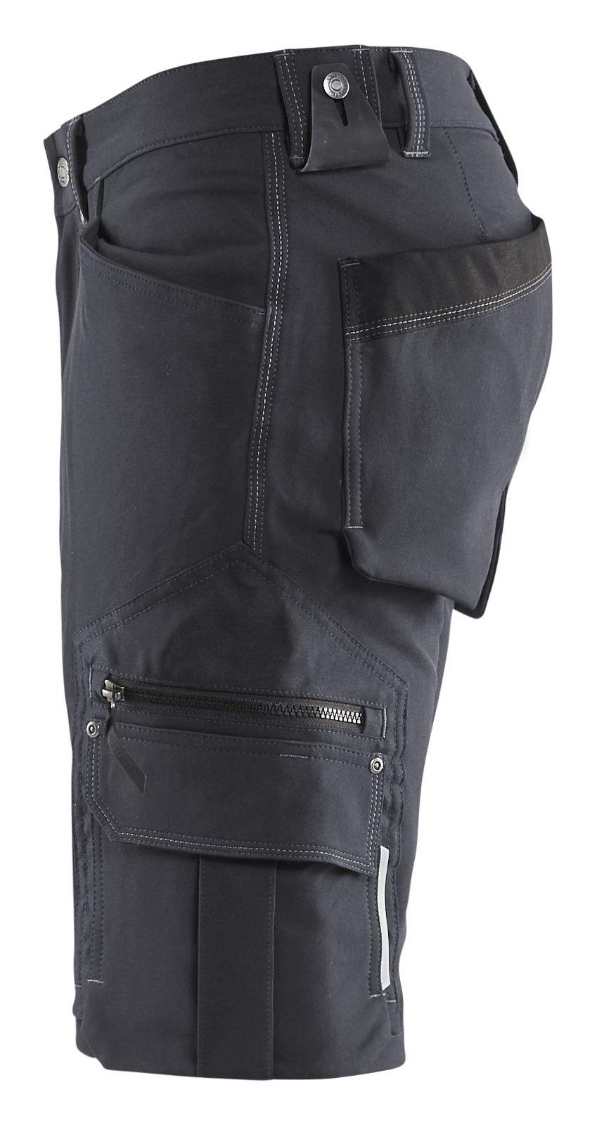 Blaklader Broeken 19871644 Stretch donkergrijs-zwart(9899)