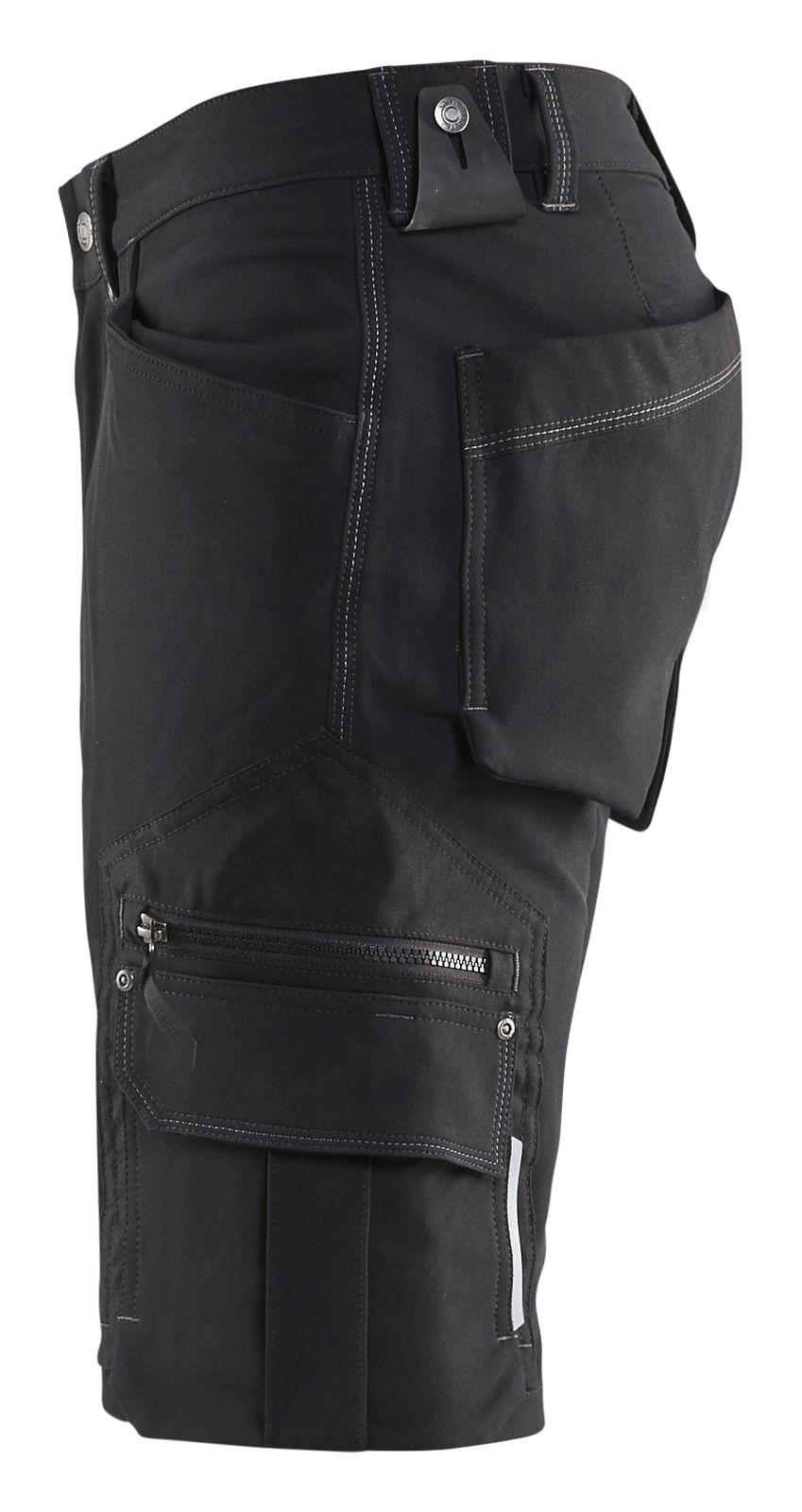 Blaklader Korte werkbroeken 19871644 Stretch zwart(9900)