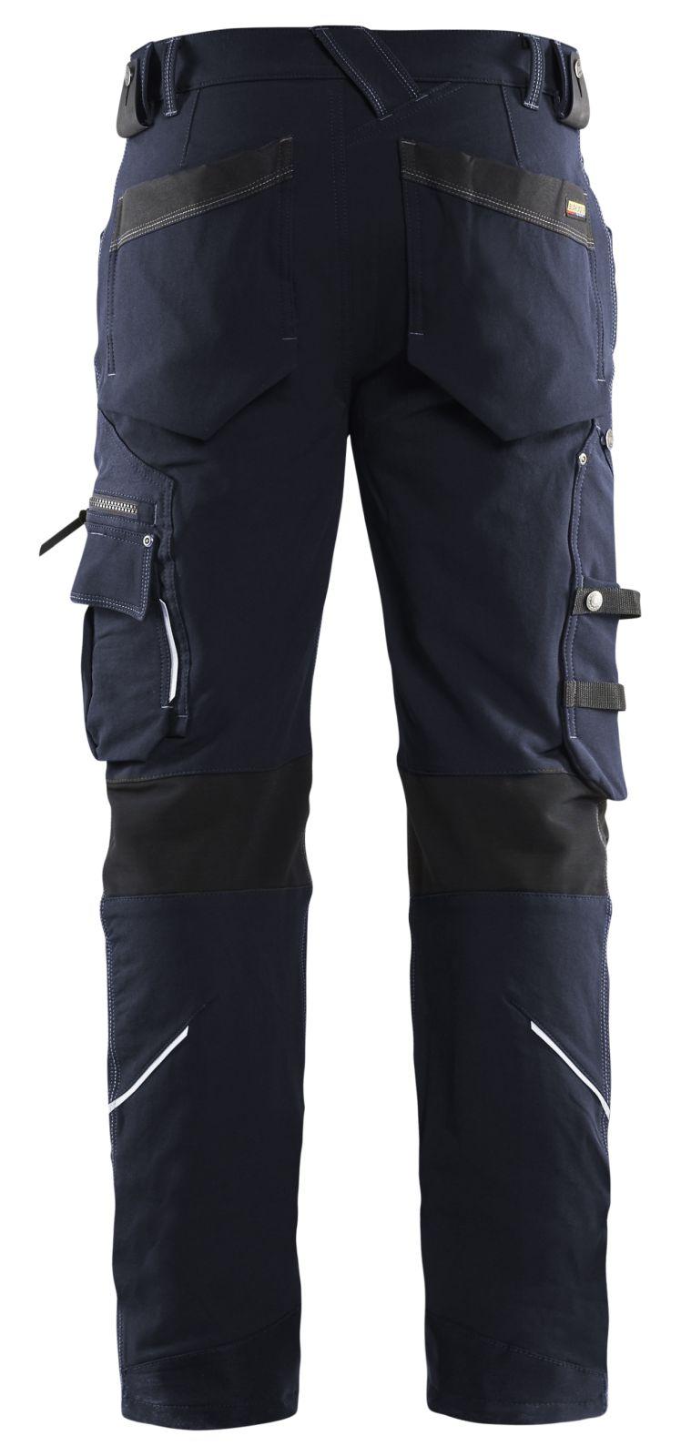 Blaklader Broeken 19891644 met Stretch donker marineblauw-zwart(8699)