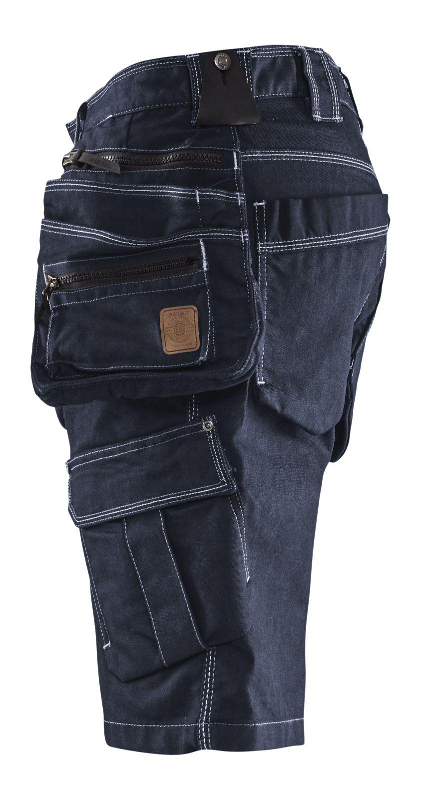 Blaklader Korte werkbroeken 19921141 marineblauw-zwart(8999)