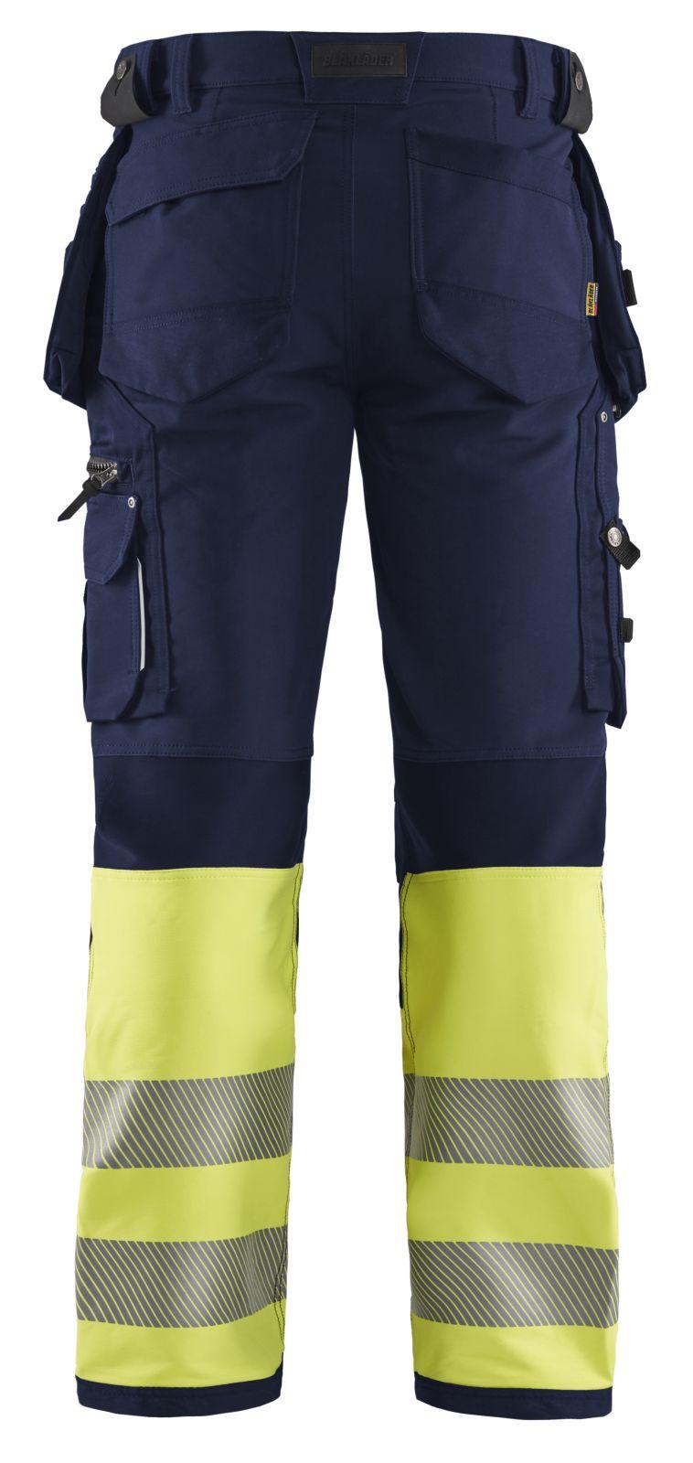 Blaklader Broeken 19931642 marineblauw-fluo geel(8933)