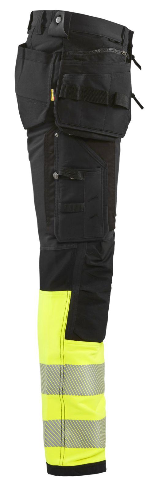 Blaklader Broeken 19931642 zwart-fluo geel(9933)