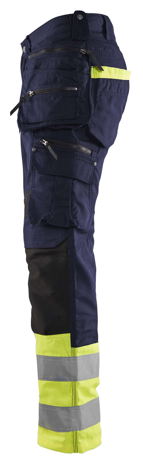 Blaklader Werkbroeken 19941330 High Vis marineblauw-fluo geel(8933)