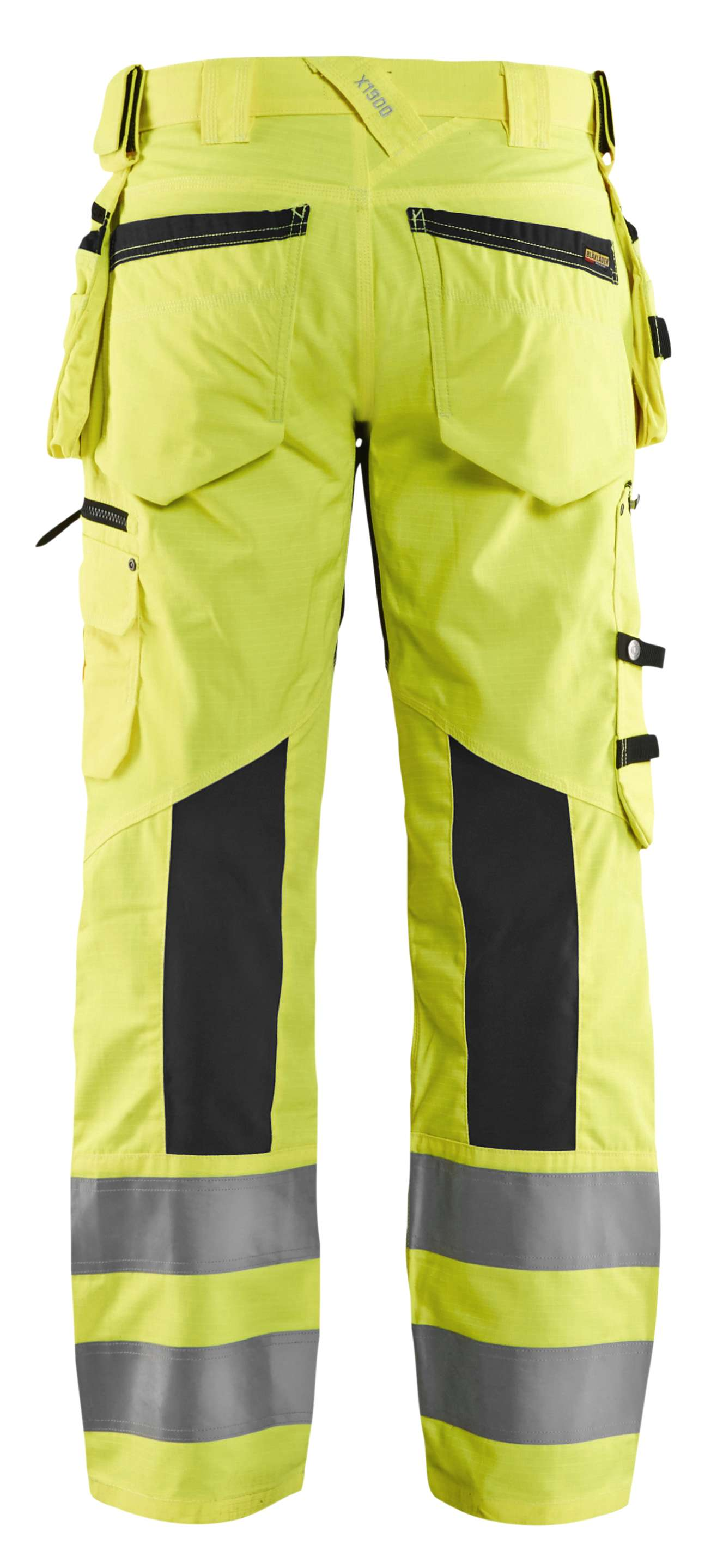 Blaklader Softshell werkbroeken 19951831 High Vis geel-zwart(3399)