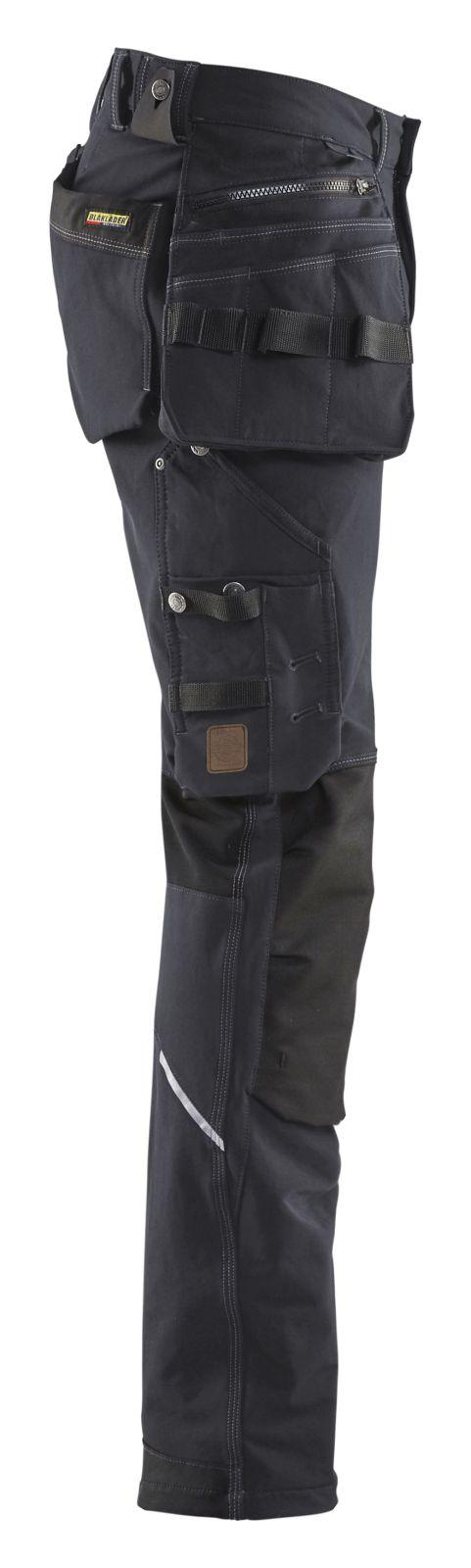 Blaklader Werkbroeken 19981644 met Stretch donkergrijs-zwart(9899)