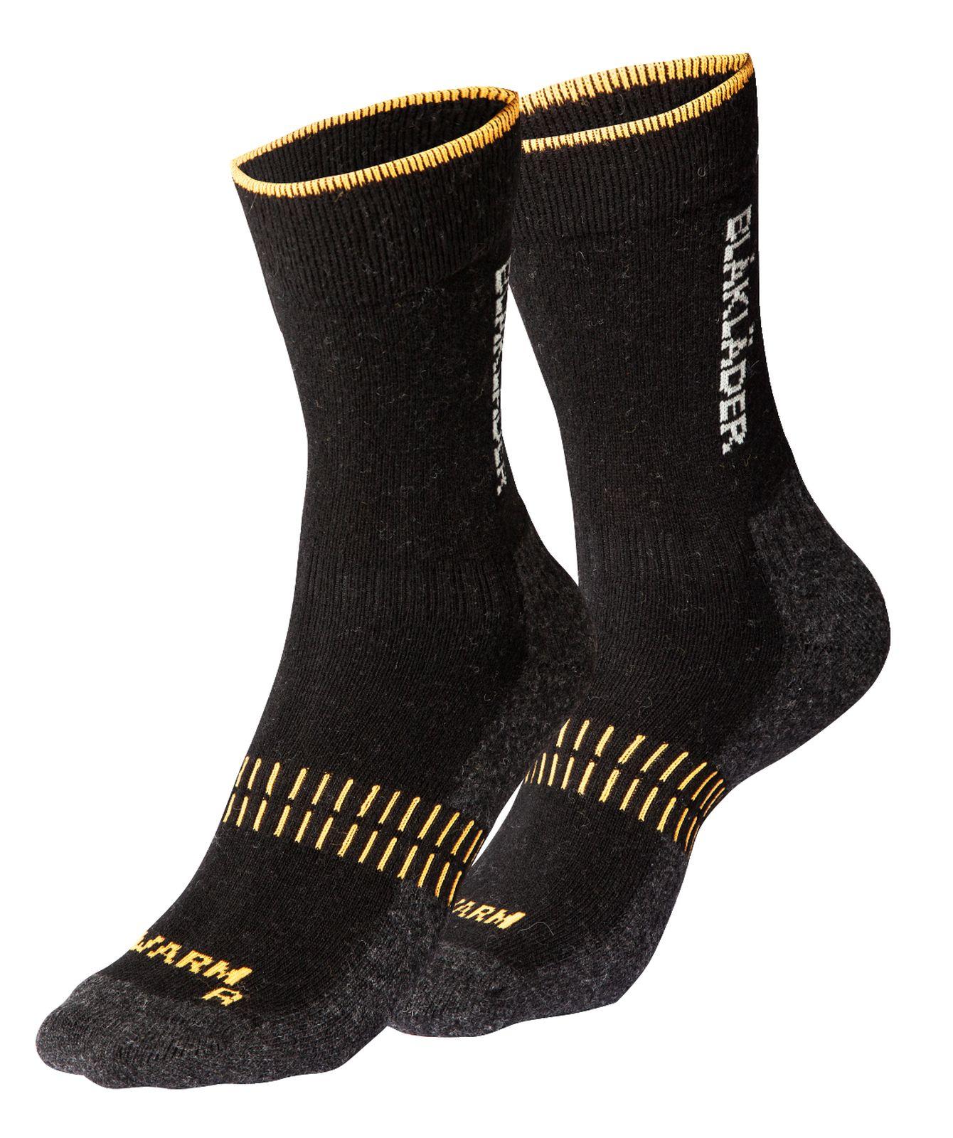 Blaklader Werksokken 21921095 zwart-neonoranje(9966)