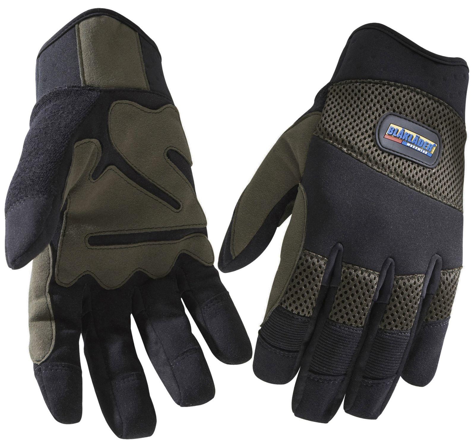 Blaklader Werkhandschoenen 22343914 zwart-khaki(9922)
