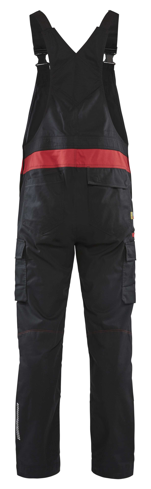 Blaklader Am. Overalls 26441832 zwart-rood(9956)