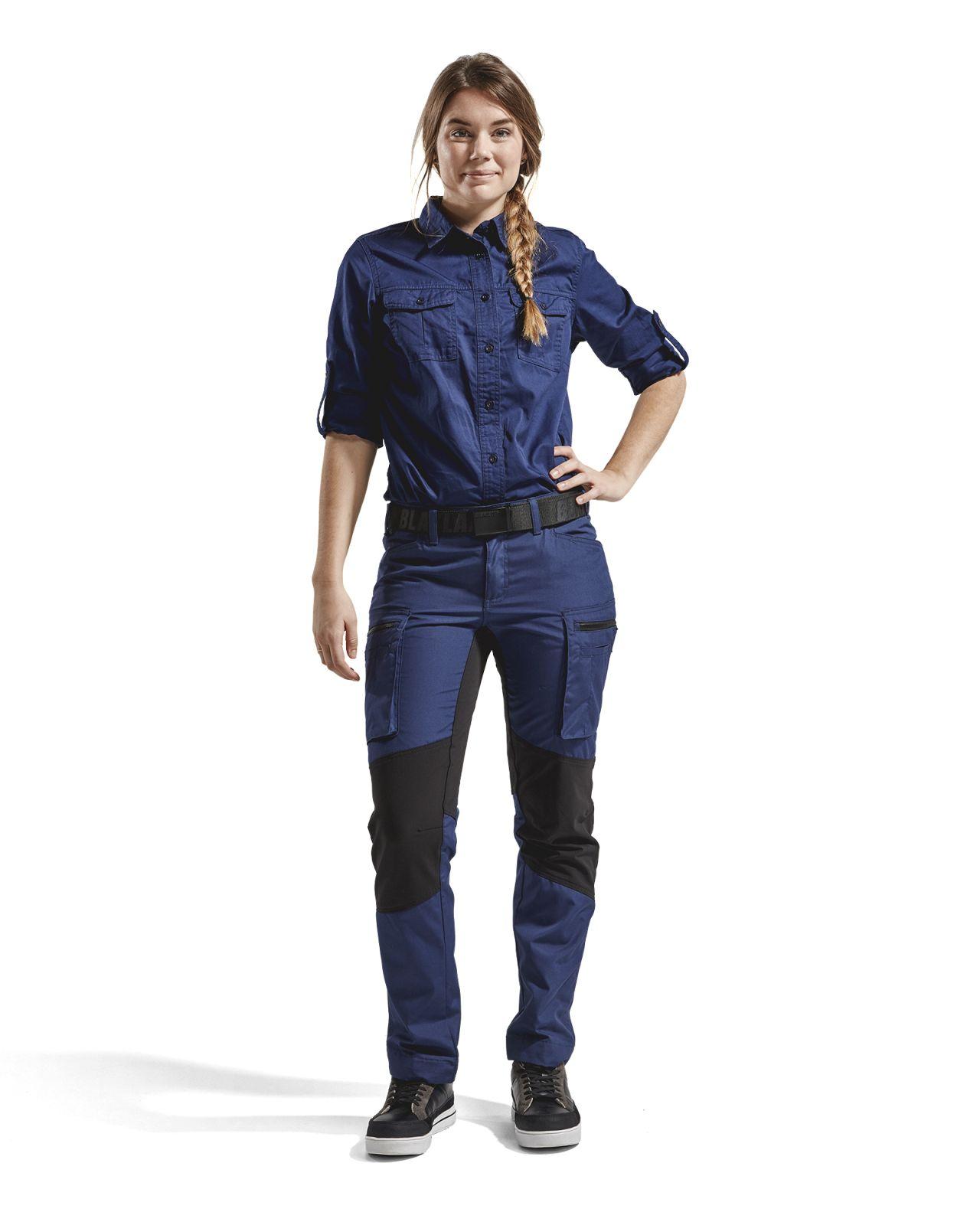 Blaklader Dames overhemden 32081135 marineblauw(8900)