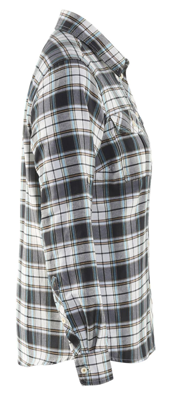 Blaklader Dames overhemden 32091136 zwart-offwhite(9920)