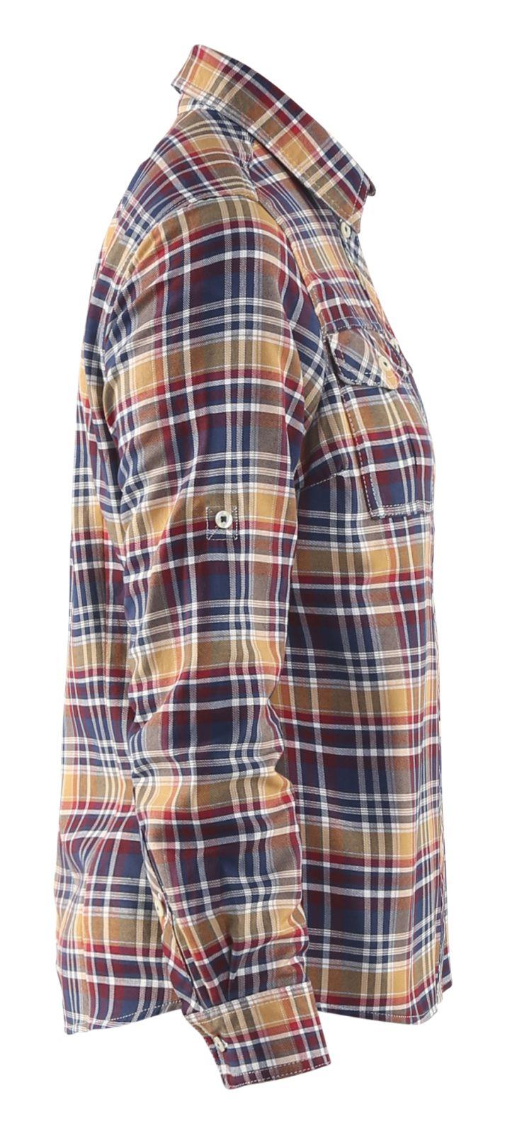 Blaklader Dames overhemden 32091137 marineblauw-oranje(8954)