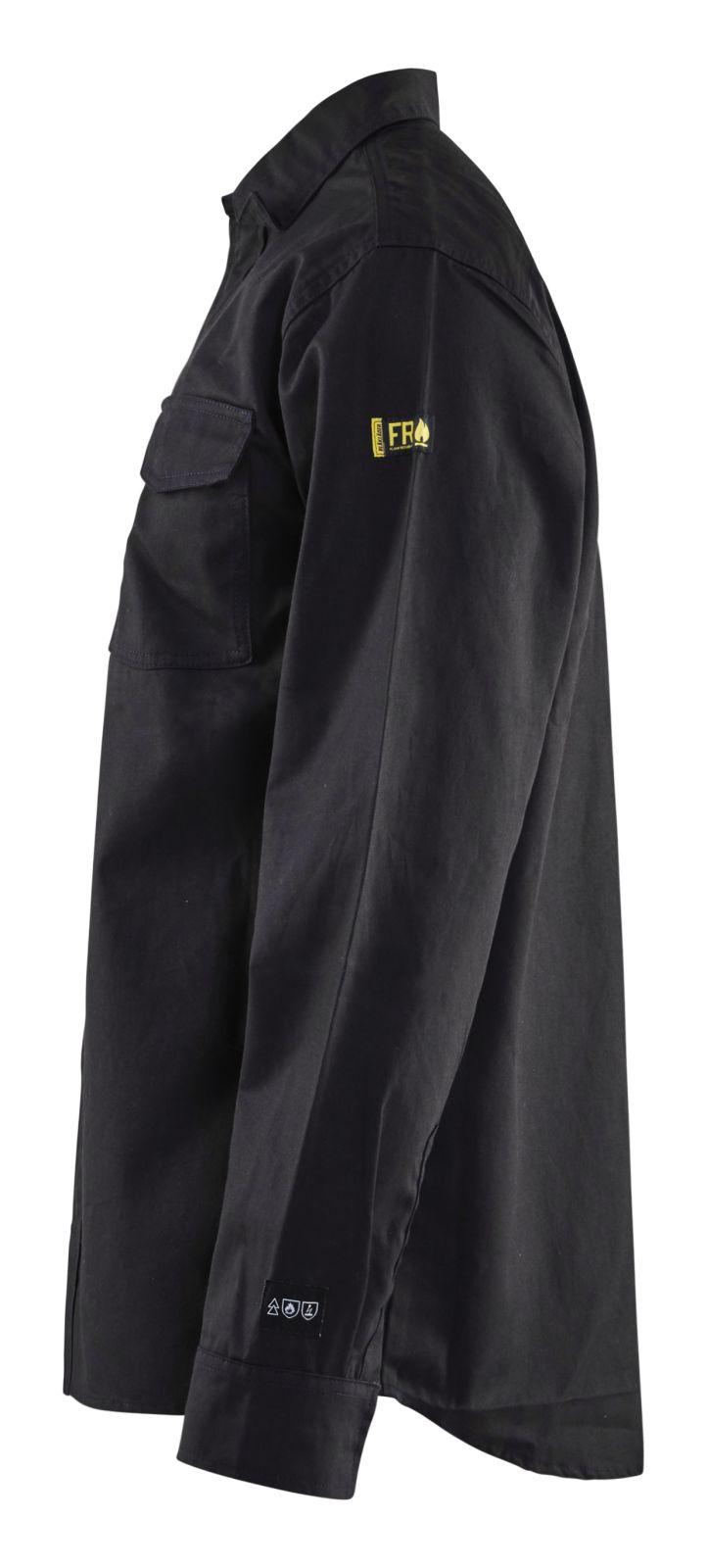 Blaklader Overhemden 32261504 Vlamvertragend zwart(9900)