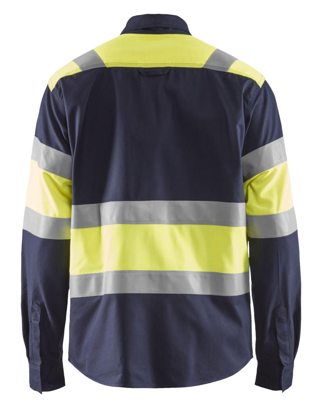 Blaklader Shirts 32281515 Multinorm marineblauw-geel(8933)