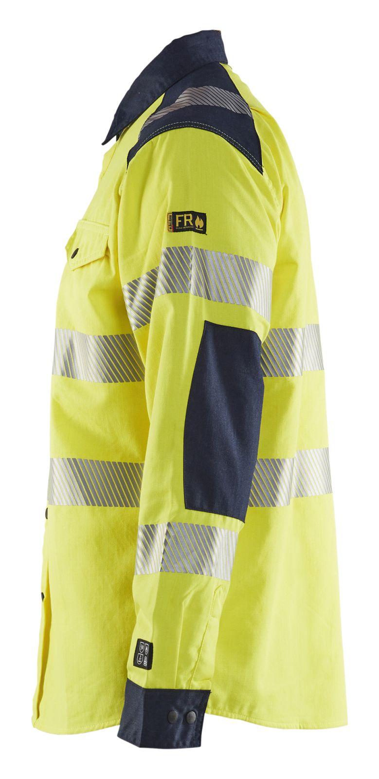 Blaklader Shirts 32391517 Multinorm fluo geel-marineblauw(3389)
