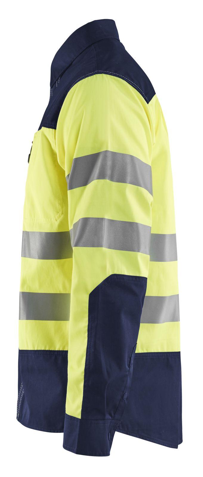 Blaklader Shirts 32551817 fluo geel-marineblauw(3389)