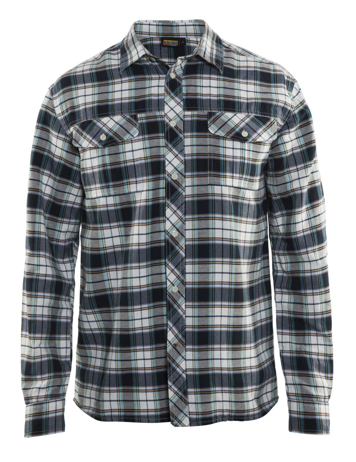 Blaklader Overhemden 32991136 zwart-offwhite(9920)