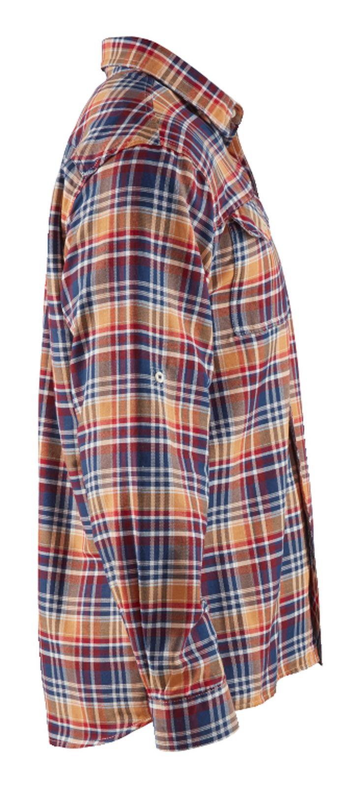 Blaklader Shirts 32991137 marineblauw-oranje(8954)