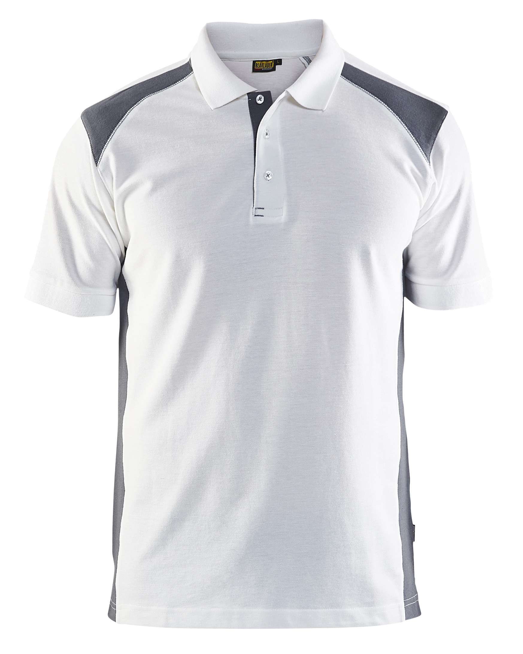 Blaklader Polo shirts 33241050 wit-grijs(1094)