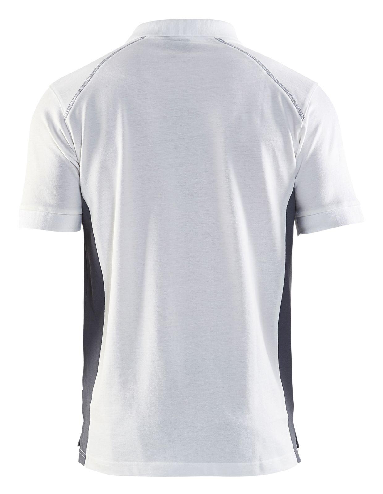 Blaklader Polo shirts 33241050 wit-grijs(1094)