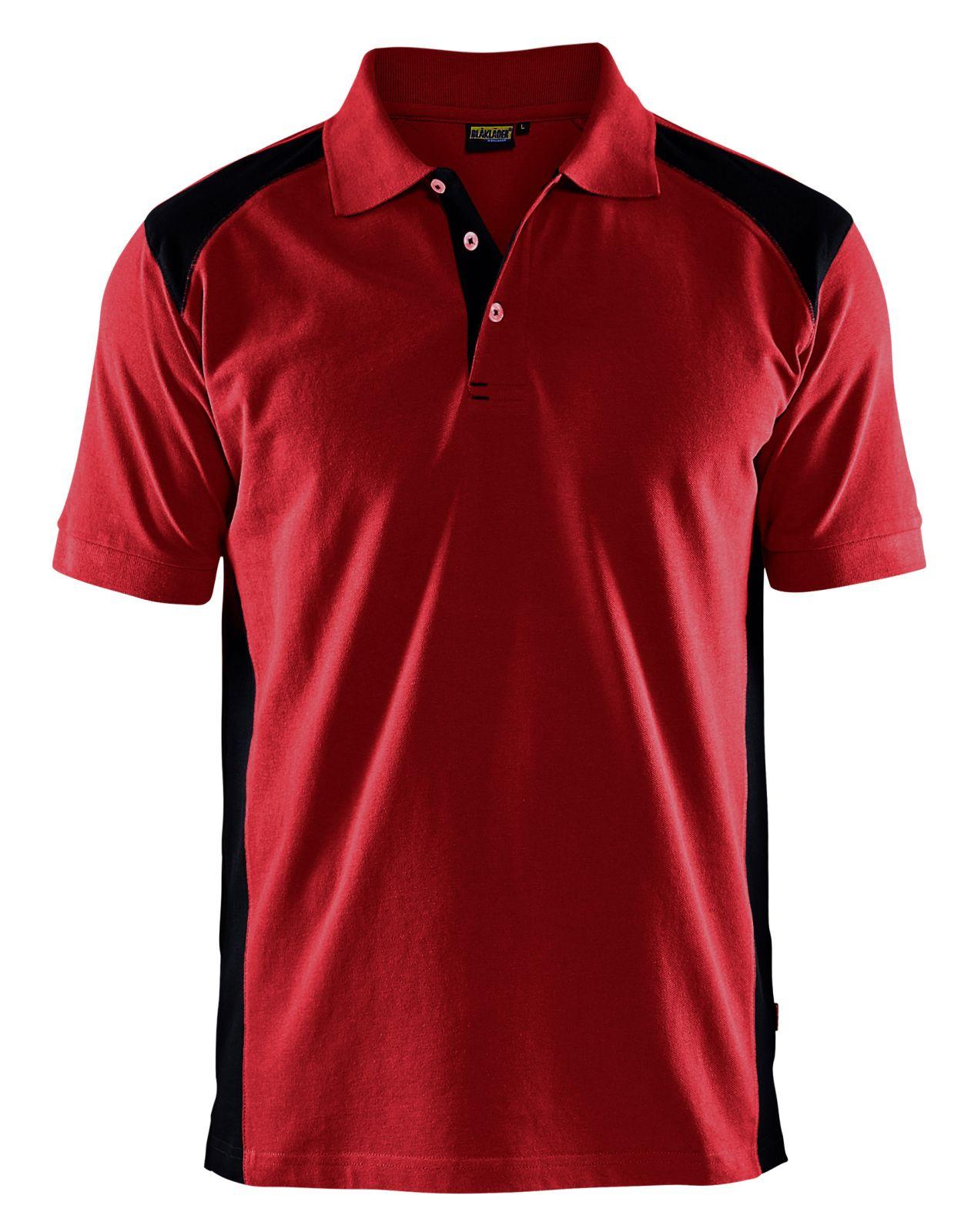 Blaklader Polo shirts 33241050 rood-zwart(5699)