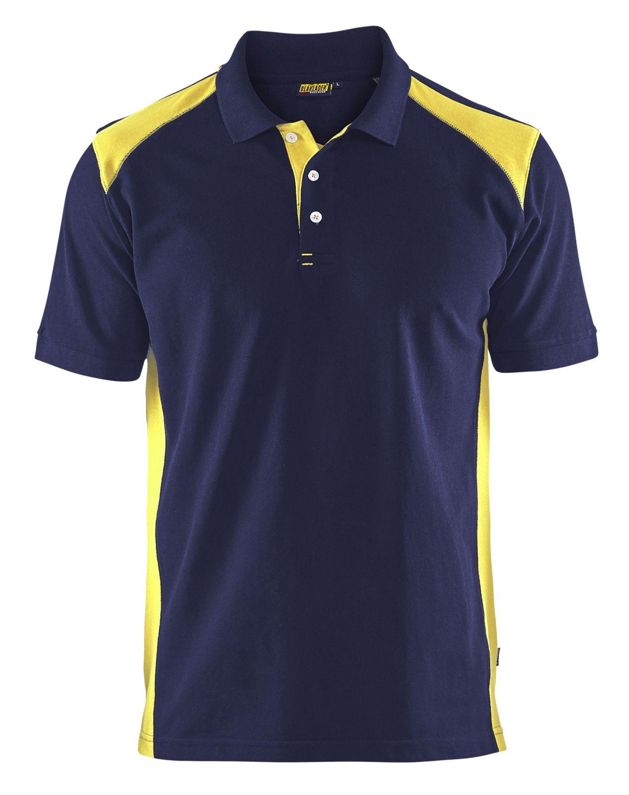 Blaklader Polo shirts 33241050 marineblauw-geel(8933)