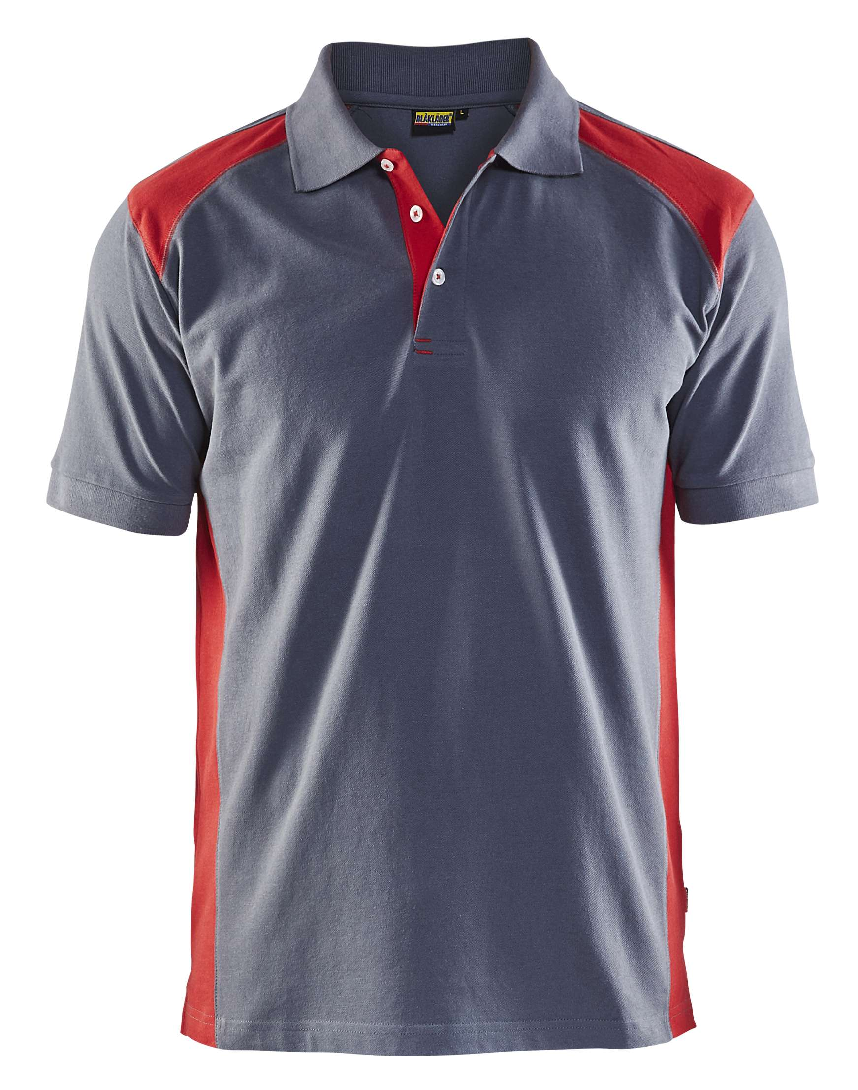 Blaklader Polo shirts 33241050 grijs-rood(9456)