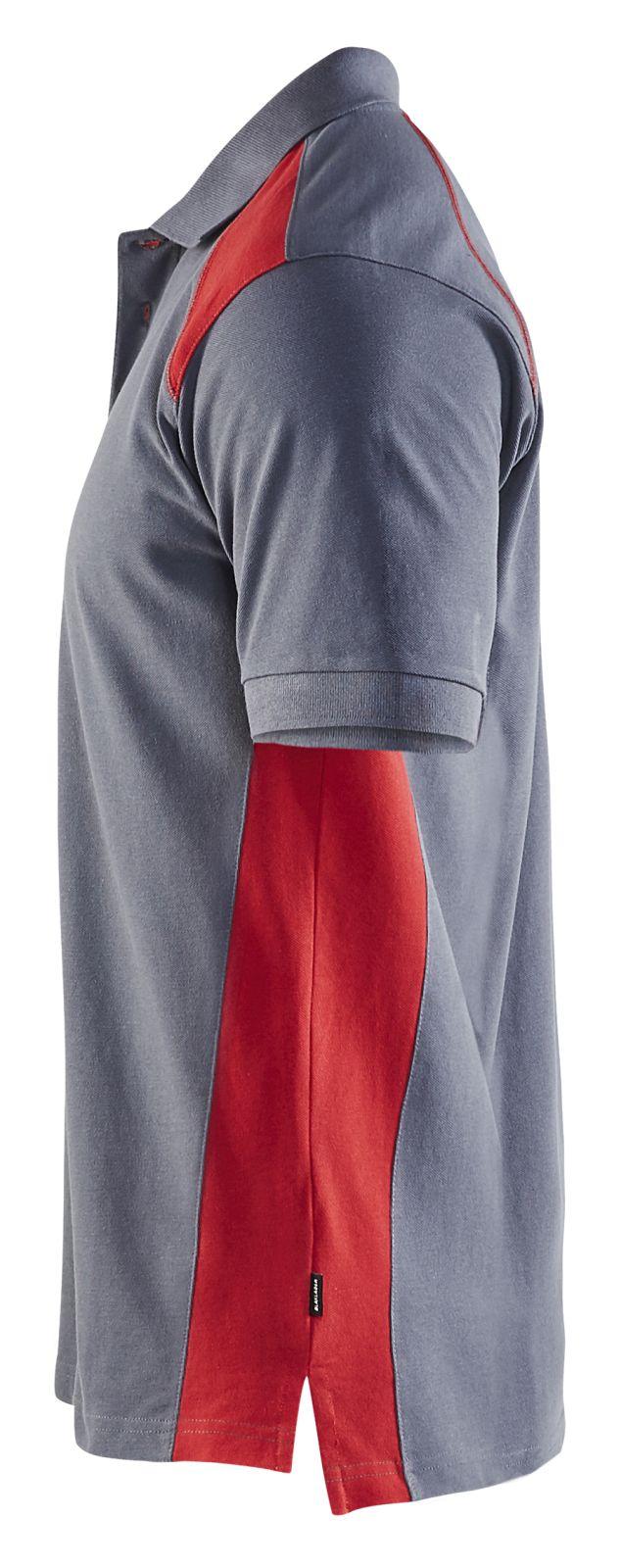 Blaklader Poloshirts 33241050 grijs-rood(9456)