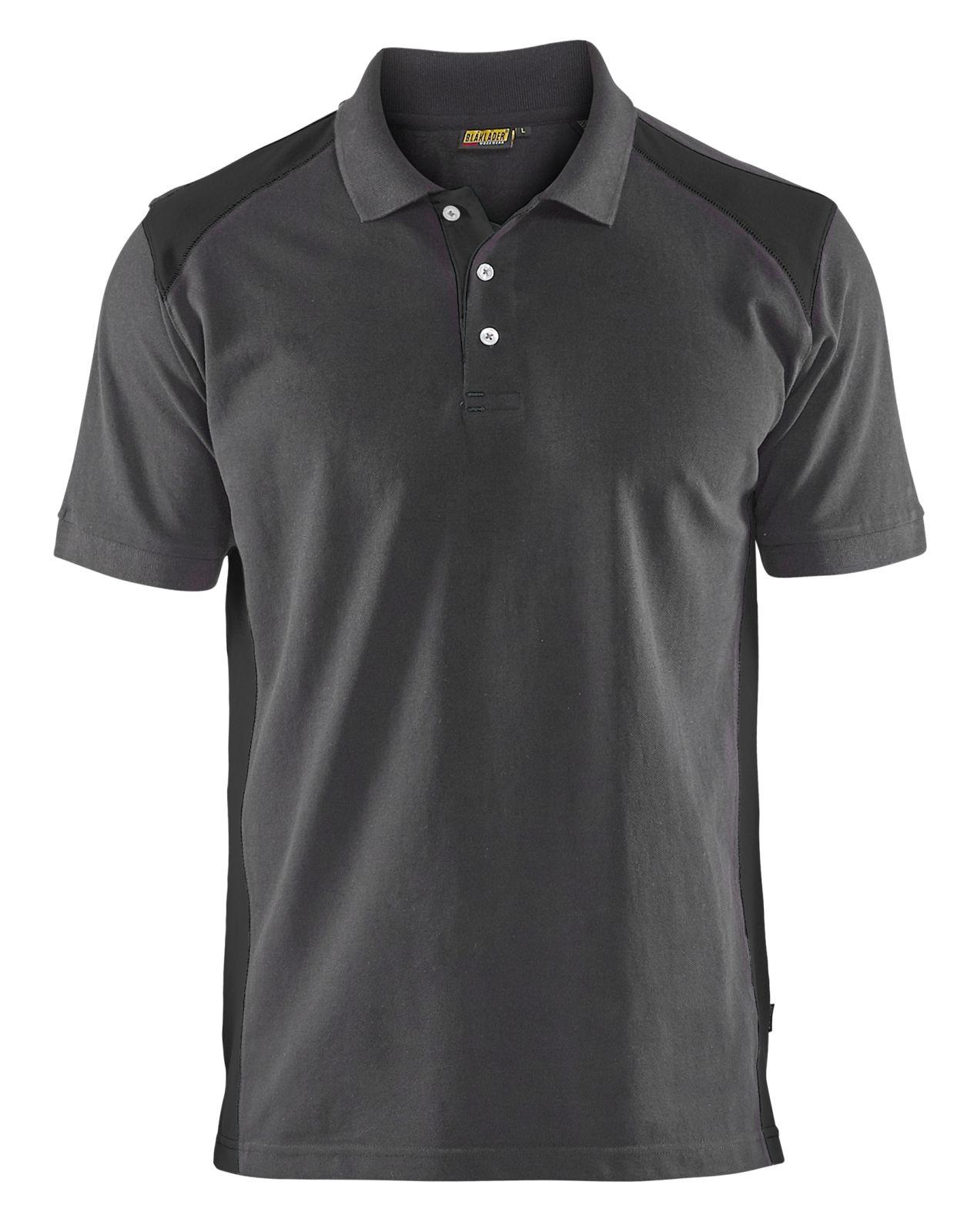 Blaklader Poloshirts 33241050 midden grijs-zwart(9699)
