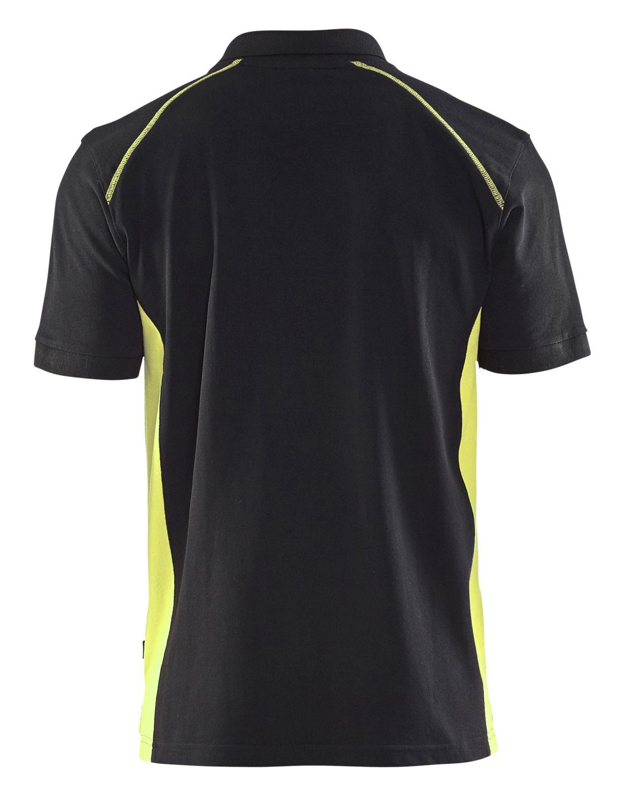 Blaklader Polo shirts 33241050 zwart-geel(9933)
