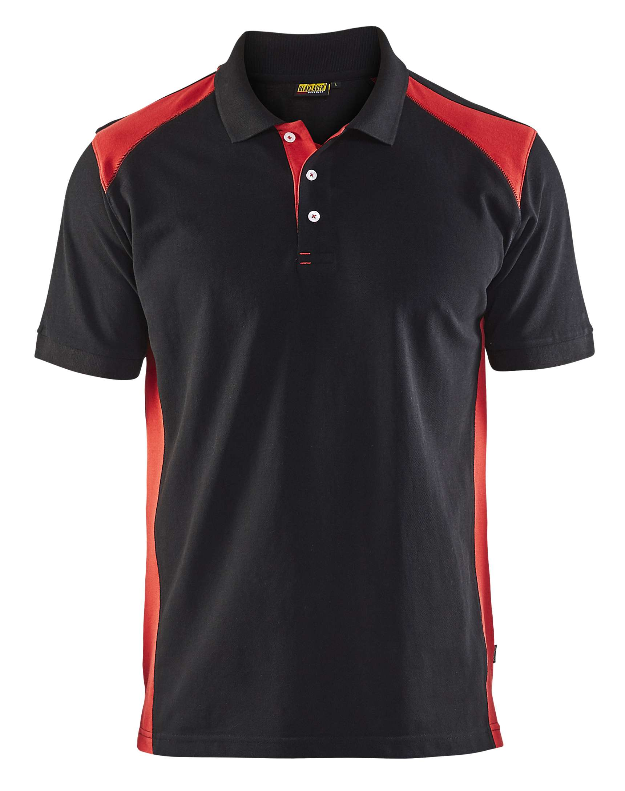 Blaklader Polo shirts 33241050 zwart-rood(9956)