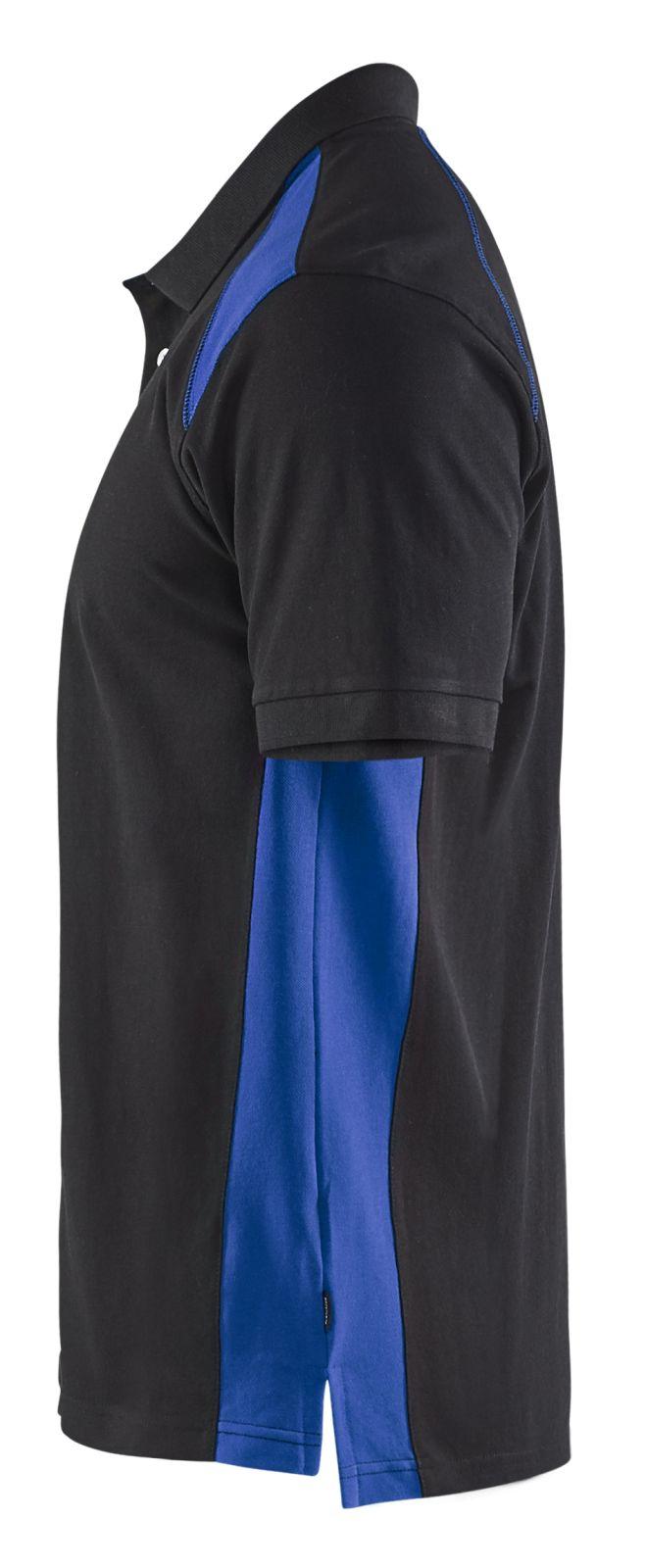 Blaklader Poloshirts 33241050 zwart-korenblauw(9985)