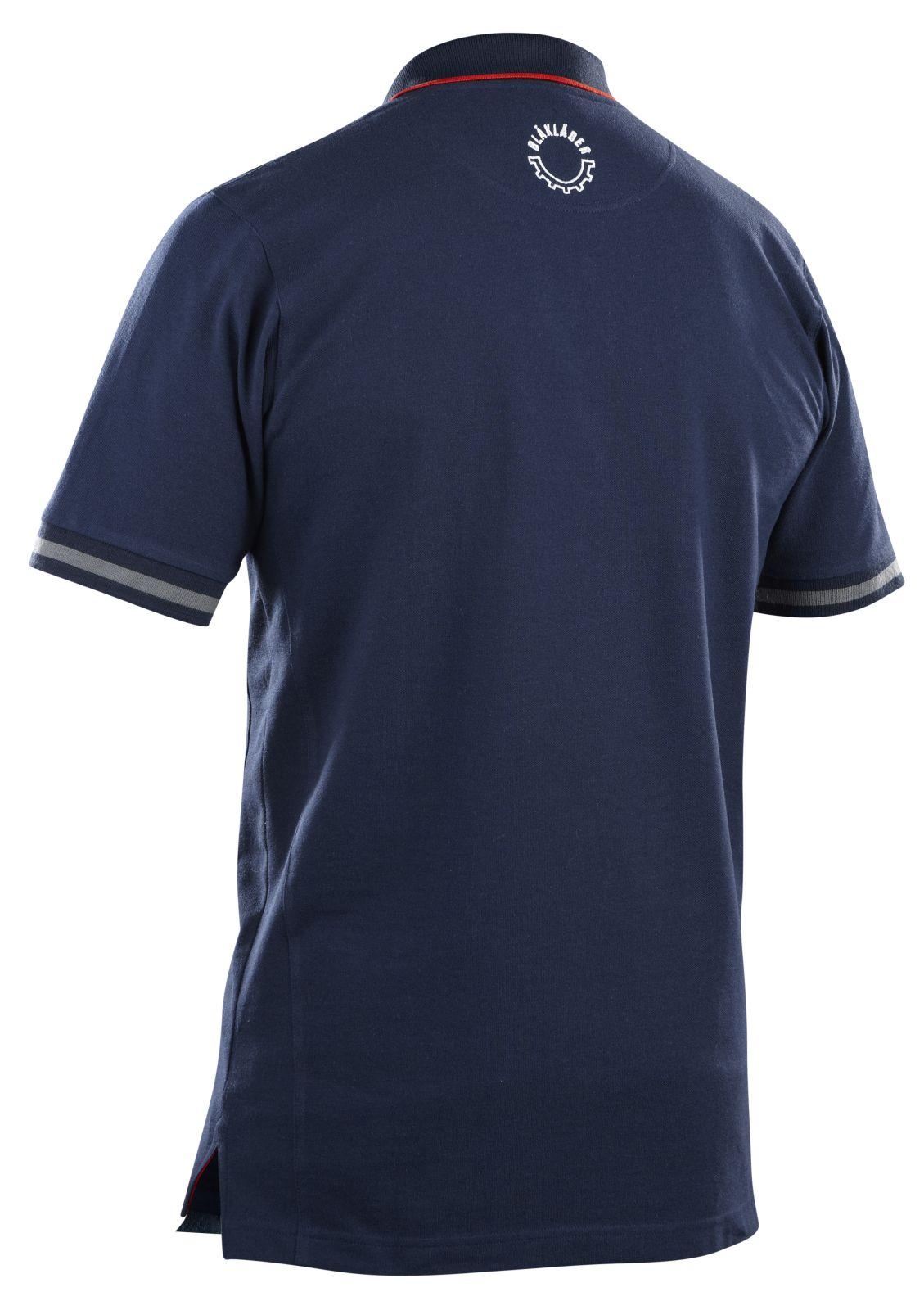 Blaklader Poloshirts 33271050 marineblauw-rood(8956)