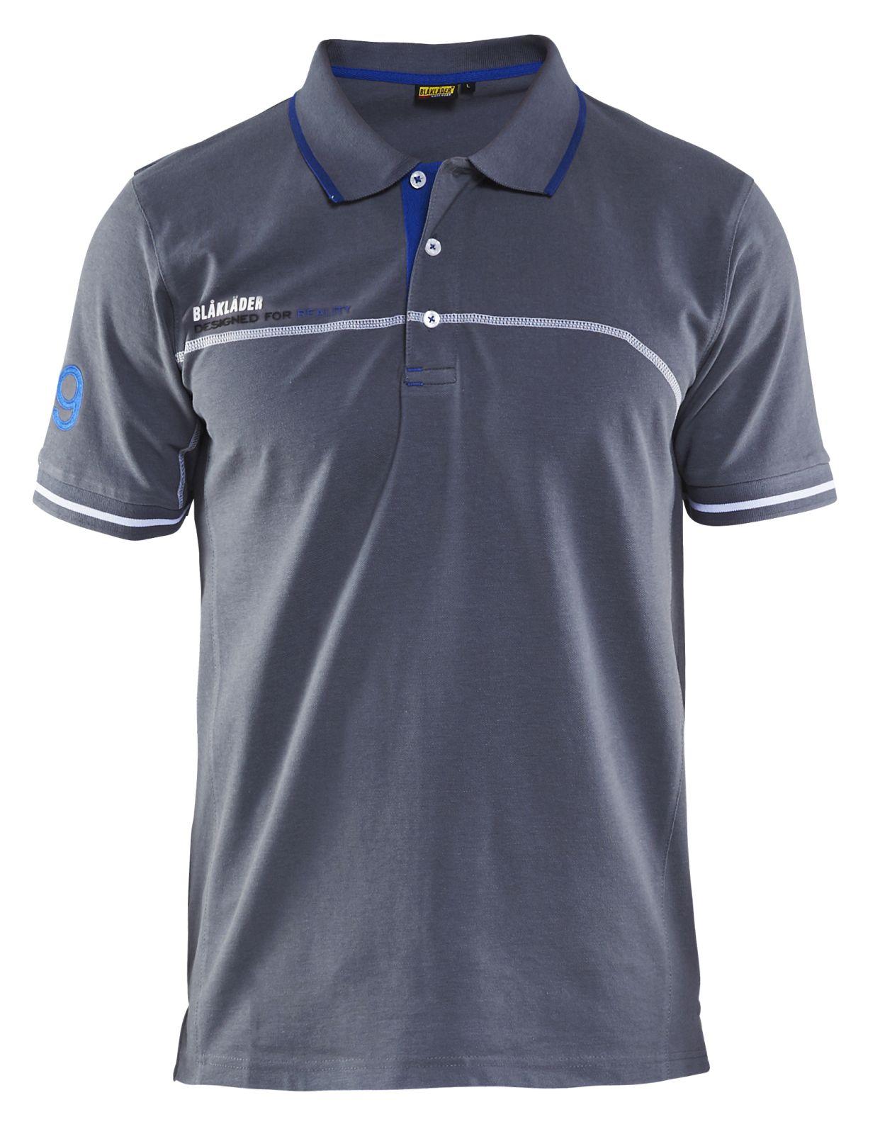 Blaklader Poloshirts 33271050 grijs-korenblauw(9485)