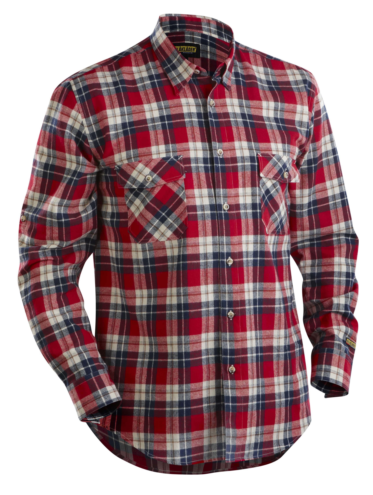 Blaklader Shirts 33281134 rood-marineblauw(5689)