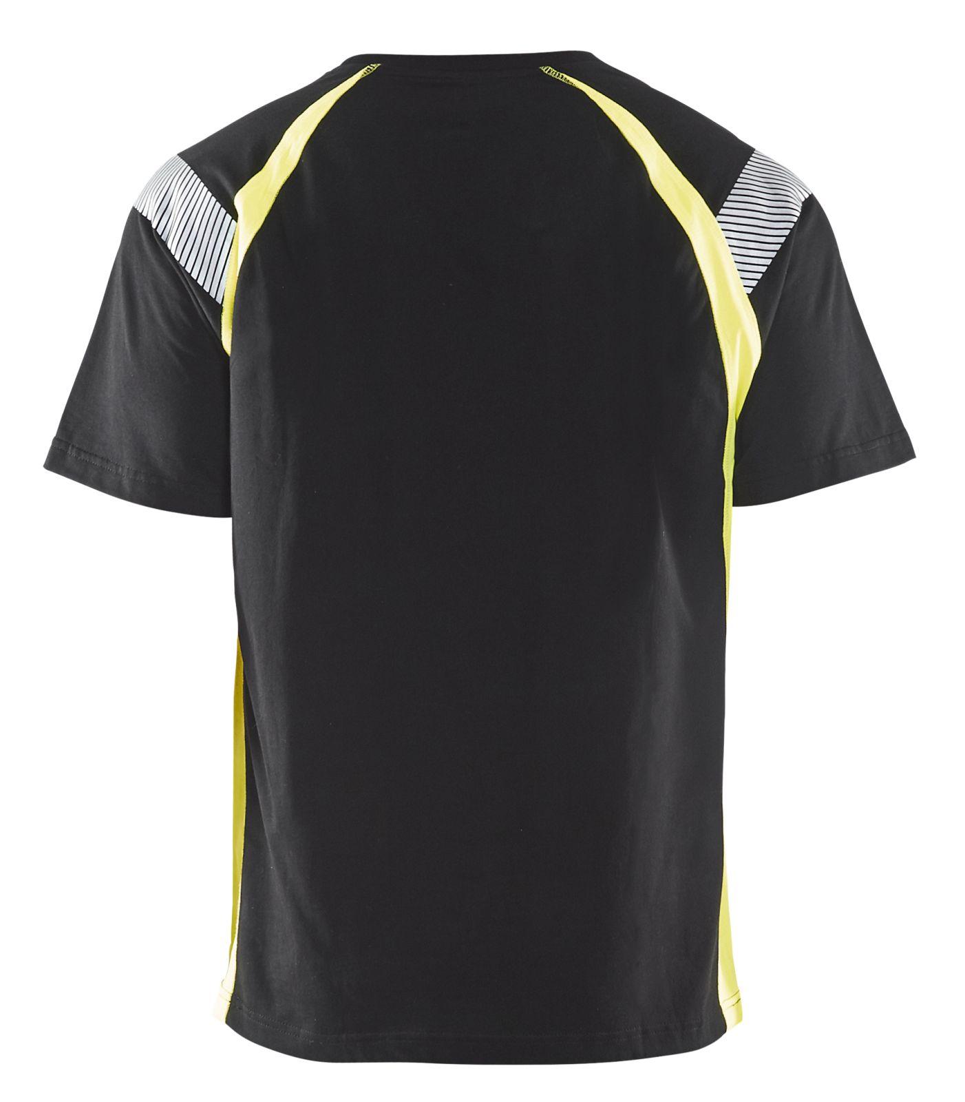 Blaklader T-shirts 33321030 zwart-geel(9933)